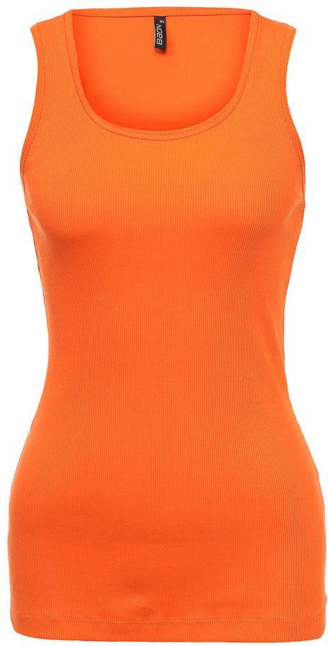 Майка женская Baon, цвет: оранжевый. B257005_Monarch. Размер L (48)B257005_MonarchМайка женская Baon выполнена из натурального хлопка. Модель с круглым вырезом горловины.