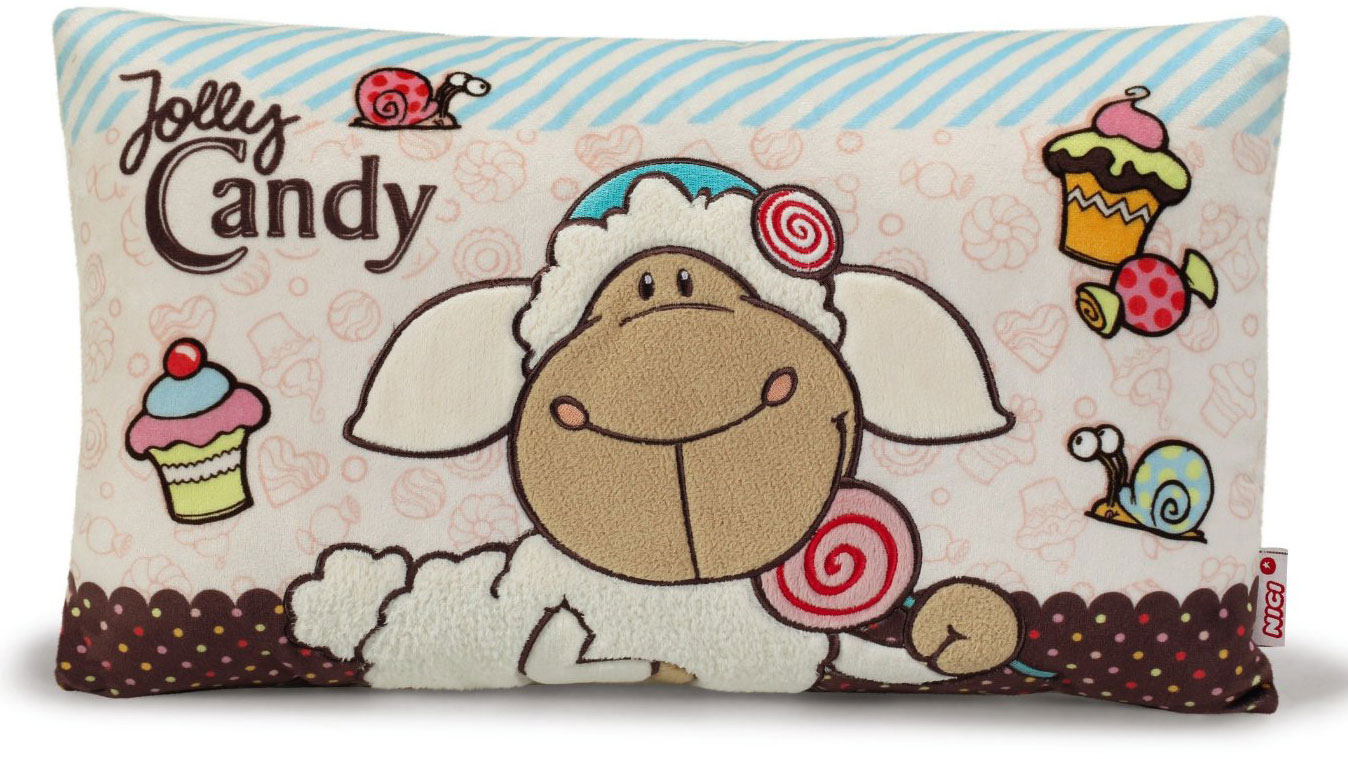 Nici Подушка Овечка Кэнди цвет бежевый коричневый 43 х 25 см37812Мягкая подушка Nici Овечка Кэнди не оставит равнодушным вашего ребенка.Мягкая и приятная на ощупь подушка прямоугольной формы выполнена из полиэстера с мягкой набивкой и оформлена вышитой аппликацией в виде симпатичной овечки по имени Кэнди. Подушка удивительно приятна на ощупь. Необычайно мягкая, она принесет радость и подарит своему обладателю мгновения нежных объятий и приятных воспоминаний.Такая подушка станет отличным аксессуаром для детской комнаты.