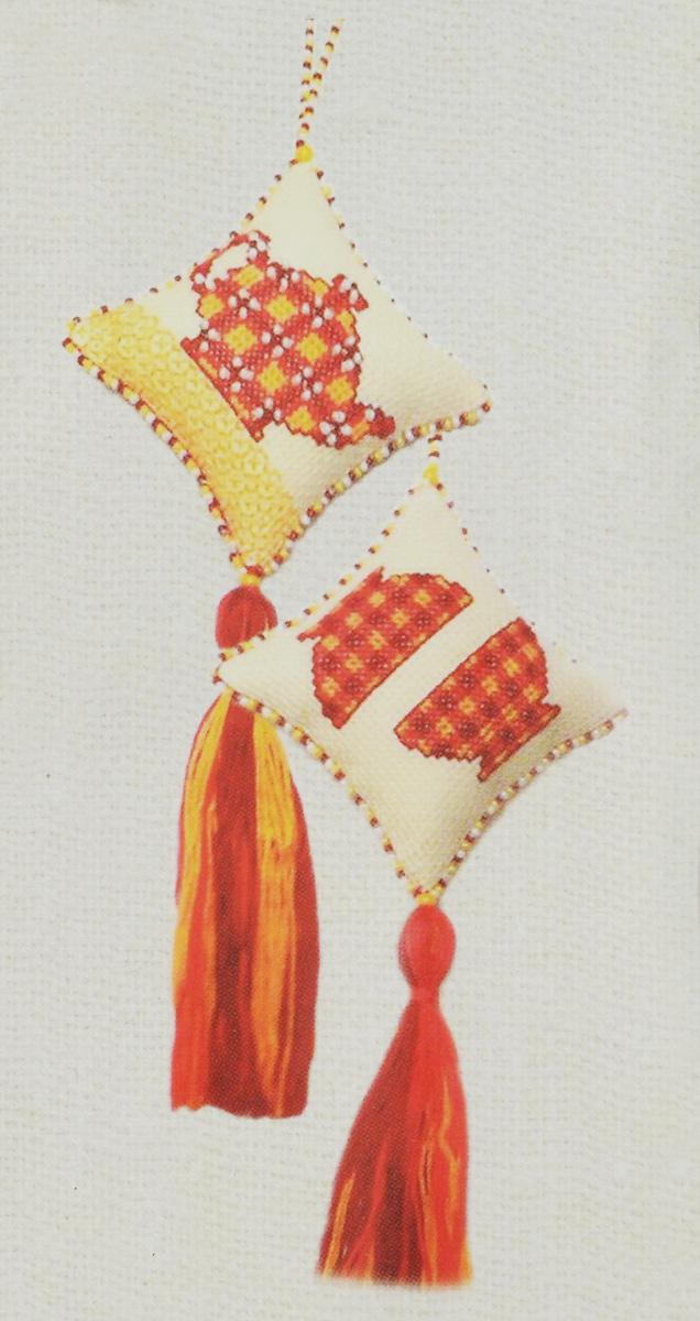 Набор для создания игрушки Zengana Чайная церемония, цвет: молочный, красный, 7 х 7 см цена