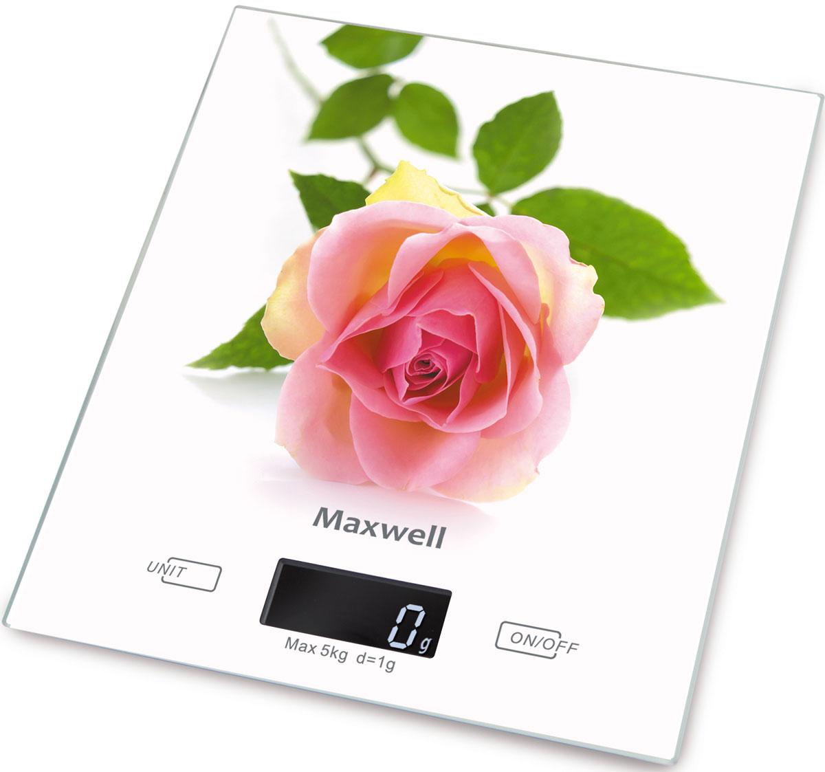 Maxwell MW-1476(W) весы кухонныеMW-1476(W)Кухонные электронные весы Maxwell MW-1476(W) - незаменимые помощники современной хозяйки. Они помогут точно взвесить любые продукты и ингредиенты. Кроме того, позволят людям, соблюдающим диету, контролировать количество съедаемой пищи и размеры порций. Предназначены для взвешивания продуктов с точностью измерения 1 грамм.Размер весов: 20 см х 18 смРазмер дисплея: 4,58 см х 1,7 см