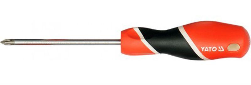 Отвертка крестовая Yato, РН2 х 200 ммYT-25931Отвертка крестовая Yato, изготовленная из стали, монтажа и демонтажа резьбовых соединений. Имеет эргономичную рукоятку с дополнительным отверстием, используемое для воротка в случае, если необходимо приложить дополнительные усилия. Тип наконечника: РН2. Длина жала: 200 мм.