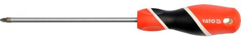 Отвертка крестовая Yato, РZ2 х 150 ммYT-25943Отвертка крестовая Yato, изготовленная из стали, монтажа и демонтажа резьбовых соединений. Имеет эргономичную рукоятку с дополнительным отверстием, используемое для воротка в случае, если необходимо приложить дополнительные усилия. Тип наконечника: PZ2.Длина жала: 150 мм.