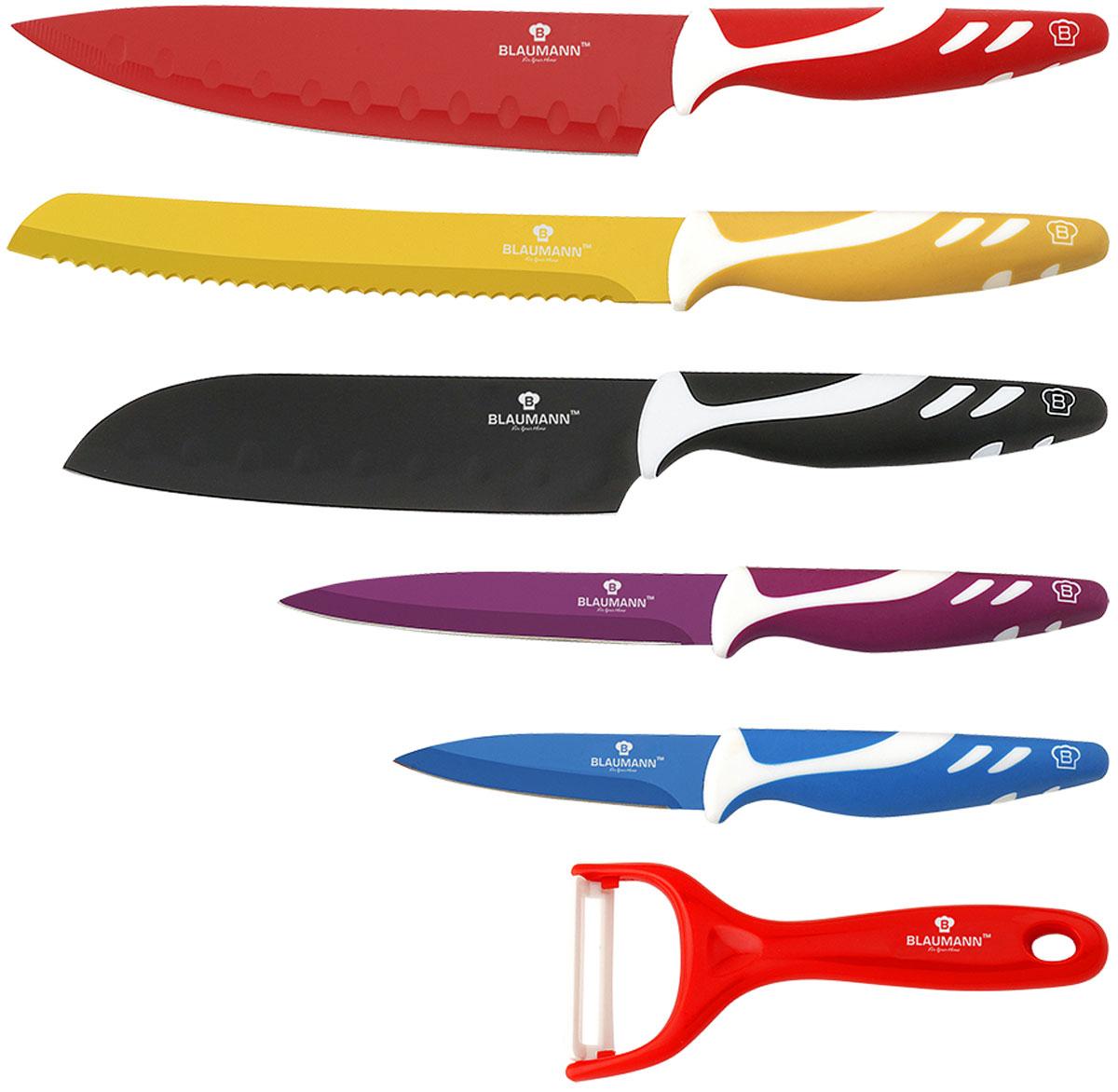 Набор кухонных ножей Blaumann, 6 предметов набор кухонных ножей bohmann на подставке 7 предметов