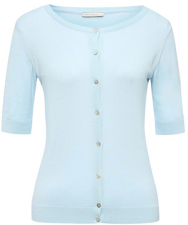 Кардиган женский Sela, цвет: небесно-голубой. CNs-114/474-7233. Размер L (48) женский кардиган 013a56