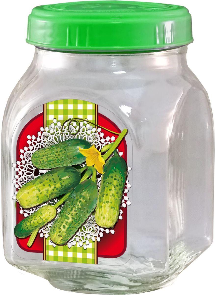 Банка для хранения Квестор, c крышкой, 800 мл. 626-032626-032Банка из бесцветного стекла для консервированной пищевой продукции. В том числе для сыпучих пищевых продуктов.