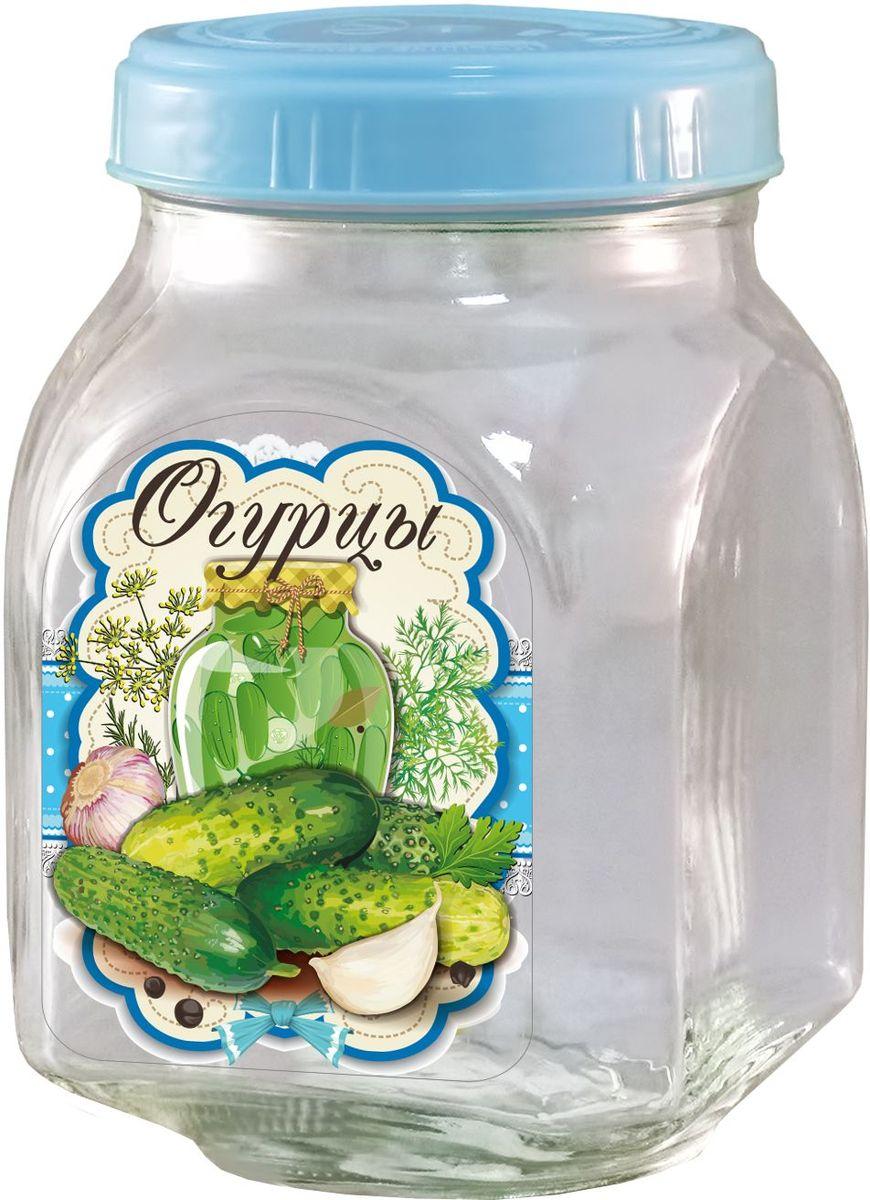 Банка для хранения Квестор Огурцы, c крышкой, 800 мл. 626-037626-037Банка из бесцветного стекла для консервированной пищевой продукции. В том числе для сыпучих пищевых продуктов.
