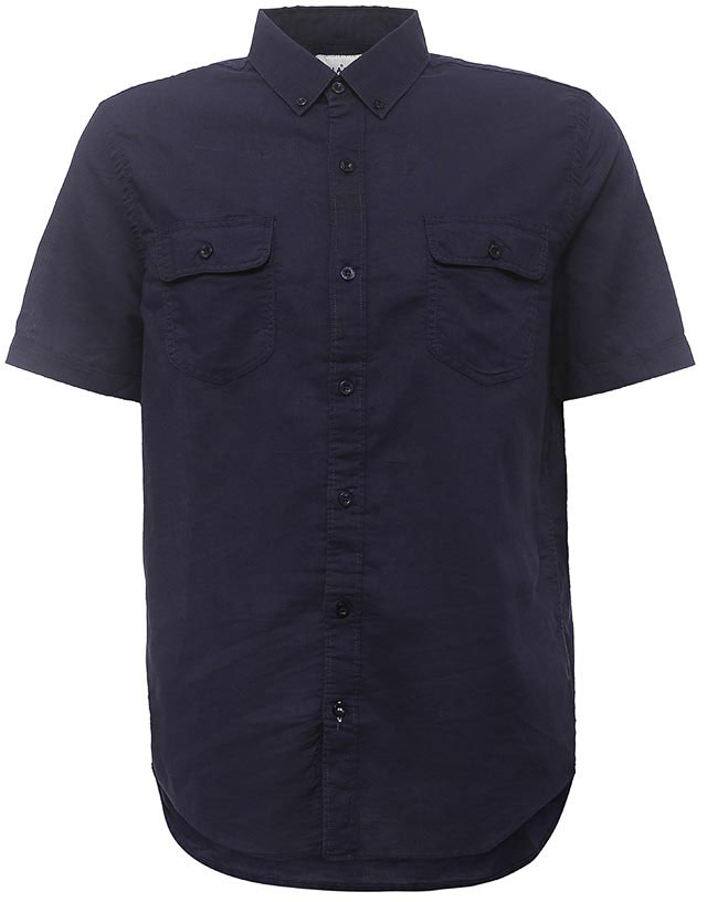 Рубашка мужская Sela, цвет: темно-синий. Hs-212/763-7213. Размер 42 (48)
