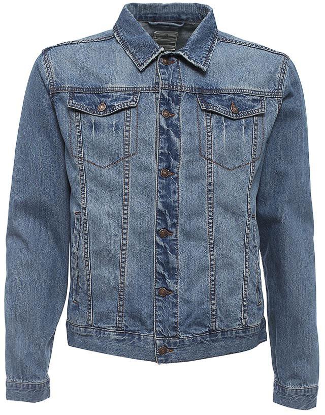 все цены на  Куртка джинсовая мужская Sela, цвет: синий джинс. JTj-236/129-7213. Размер XS (44)  онлайн