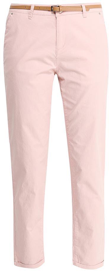 Брюки женские Sela, цвет: розовый. P-115/832-7233. Размер 44P-115/832-7233Стильные укороченные брюки-чиносSela, изготовленные из качественного эластичного материала, станут отличным дополнением вашего гардероба. Брюки стандартной посадки на талии застегиваются на застежку-молнию и пуговицу. На поясе имеются шлевки для ремня. Модель дополнена двумя втачными карманами спереди и двумя прорезными карманами сзади. В комплект с брюками входит узкий ремень из искусственной кожи.