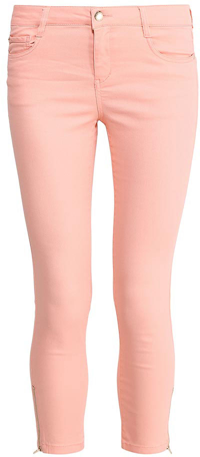 Брюки женские Sela, цвет: пепельно-персиковый. P-315/796-7213. Размер 42P-315/796-7213Стильные укороченные брюкиSela, изготовленные из качественного хлопкового материала, станут отличным дополнением гардероба в летний период. Брюки прилегающего кроя и стандартной посадки на талии застегиваются на застежку-молнию и пуговицу. На поясе имеются шлевки для ремня. Низ брючин оформлен металлическими молниями с боков. Модель дополнена двумя втачными и накладным кармашком спереди и двумя накладными карманами сзади.