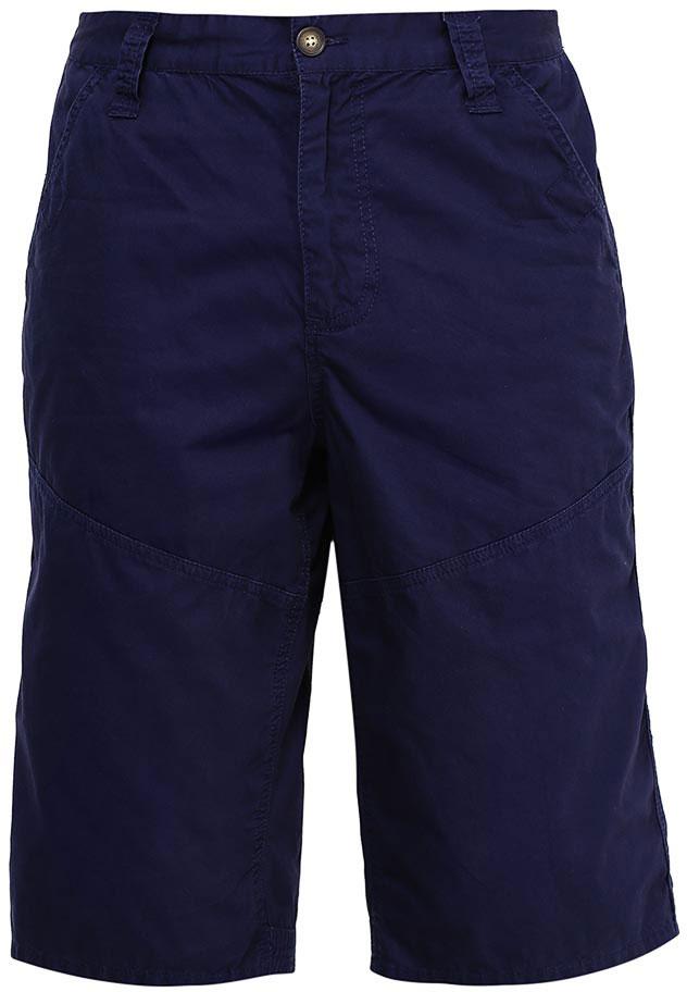 Шорты мужские Sela, цвет: темно-синий. SH-215/539-7213. Размер 50SH-215/539-7213Стильные мужские шорты Sela, изготовленные из натурального хлопка, станут отличным дополнением гардероба в летний период. Шорты прямого кроя ниже колен и стандартной посадки на талии застегиваются на застежку-молнию и пуговицу. На поясе имеются шлевки для ремня. Модель дополнена двумя втачными карманами спереди и двумя накладными карманами сзади.