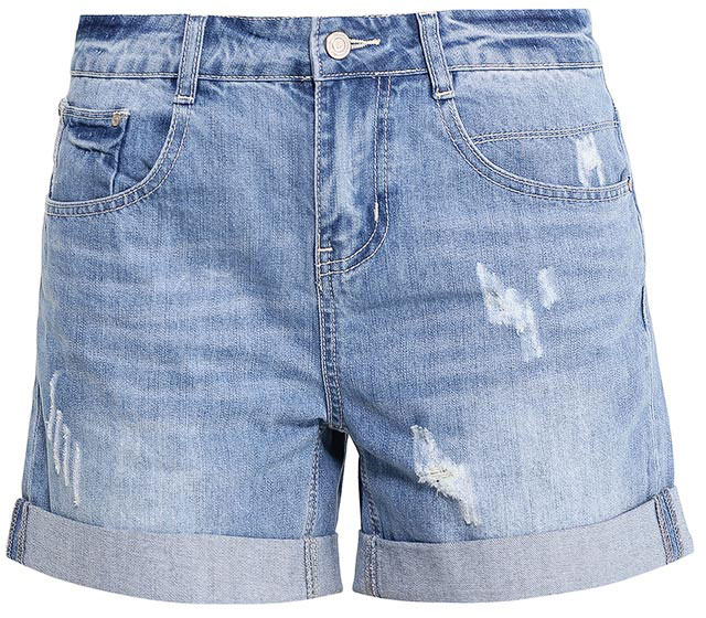 Шорты женские Sela Denim, цвет: синий джинс. SHJ-135/610-7213. Размер 26 (42)SHJ-135/610-7213Женские джинсовые шорты Sela, изготовленные из натурального хлопка с эффектом потертостей и разрывов, станут отличным дополнением гардероба в летний период. Шорты силуэта Boyfriend и стандартной посадки на талии застегиваются на застежку-молнию и пуговицу. На поясе имеются шлевки для ремня. Модель с отворотами дополнена двумя втачными и накладным карманами спереди и двумя накладными карманами сзади.