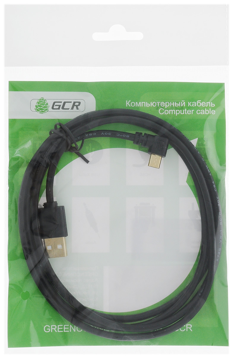 Greenconnect Russia GCR-UA8MCB6-BB2SG, Black кабель microUSB-USB (1,5 м) greenconnect russia gcr uec3m2 bd2s transparent black удлинитель активный usb 2 0 3 м