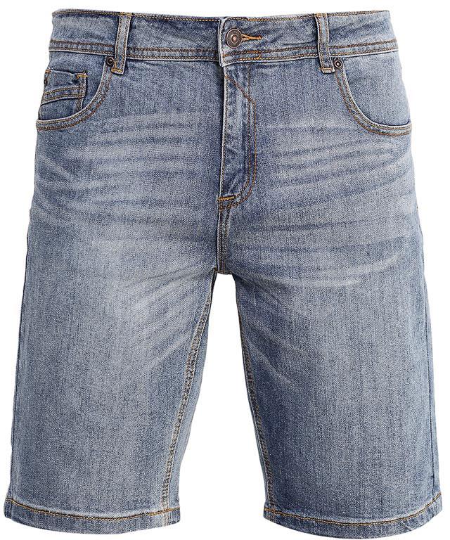 Шорты мужские Sela Denim, цвет: голубой джинс. SHJ-235/1070-7213. Размер 28-32 (44-32)SHJ-235/1070-7213Стильные мужские шорты Sela, изготовленные из качественного джинсового материала с эффектом потертостей, станут отличным дополнением гардероба в летний период. Шорты прямого кроя и стандартной посадки на талии застегиваются на застежку-молнию и пуговицу. На поясе имеются шлевки для ремня. Модель дополнена двумя втачными и накладным карманами спереди и двумя накладными карманами сзади.