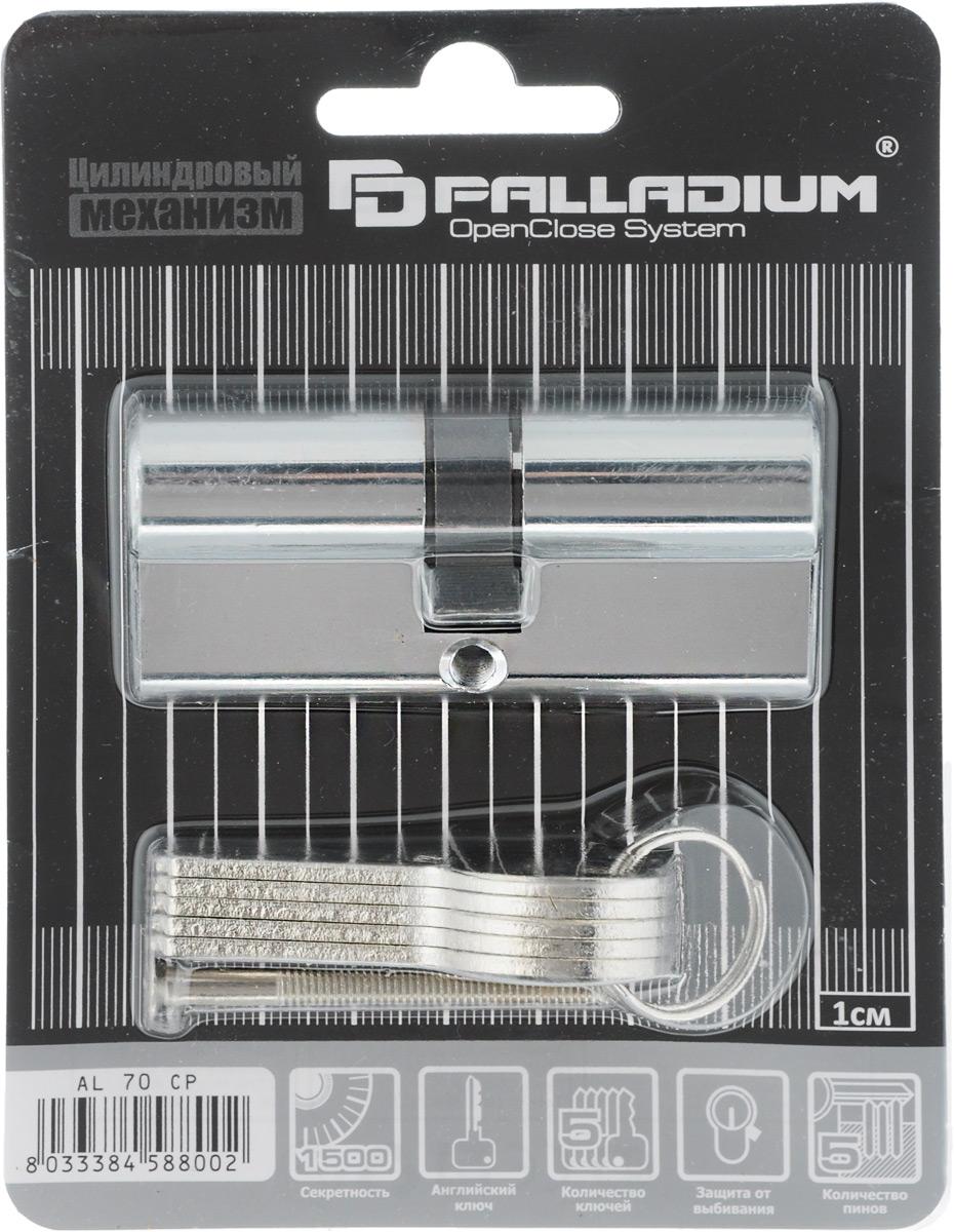 Palladium / Palladium Sarento Цилиндровый механизм Palladium Sarento, ключ-ключ, цвет: хром, 70 мм 67227
