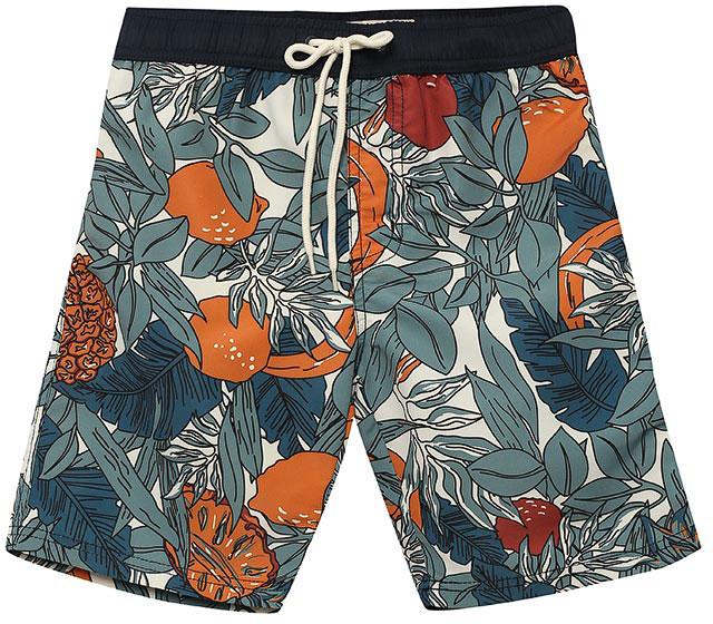Шорты пляжные для мальчика Sela, цвет: серовато-янтарный. SHsp-815/319-7214. Размер 128, 8 летSHsp-815/319-7214Пляжные шорты для мальчика Sela, изготовленные из качественного материала, - идеальный вариант, как для купания, так и для отдыха на пляже. Модель с вшитыми сетчатыми трусиками на поясе имеет эластичную резинку, регулируемую шнурком, благодаря чему шорты не сдавливают живот ребенка и не сползают. Изделие оформлено оригинальным принтом и дополнено имитацией ширинки.Шорты быстро сохнут и сохраняют первоначальный вид и форму даже при длительном использовании.