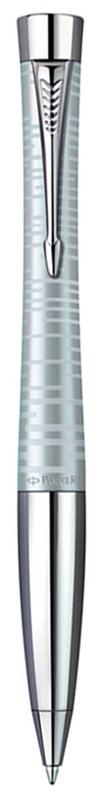 Parker Ручка шариковая Urban Premium цвет корпуса серебряныйPARKER-S1906870Шариковая ручка Parker Urban Premium в серебряном корпусе из нержавеющей стали с лаковым покрытием имеет металлическую зону захвата и поворотный механизм.Стильная ручка нового поколения. Urban Premium - правильный выбор для тех, кто понимает качество, как достижение лучшего по всем показателям - в виде надежной, динамичной, функциональной конструкции в сочетании с идеальным дизайнерским решением. Возвращение к городскому духу: смешение металлических эффектов. Толщина линии письма: 0.8 мм.