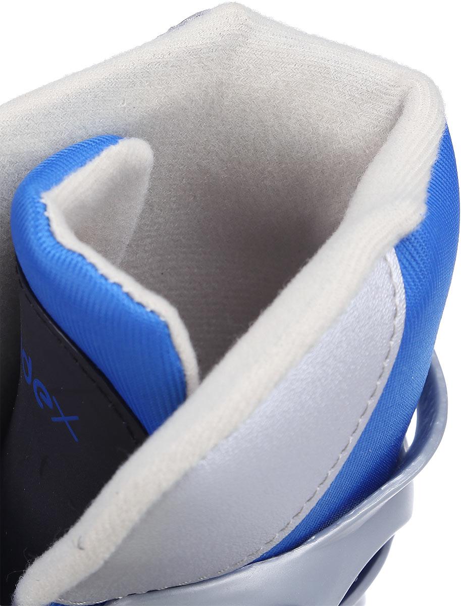 Коньки роликовые Ridex Scout, раздвижные, цвет:  серый, голубой, белый.  УТ-00008094.  Размер 31/34 Ridex