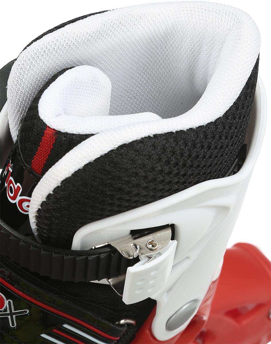 Коньки роликовые Ridex Rocky, раздвижные, цвет:  черный, красный, белый.  УТ-00008098.  Размер 30/33 Ridex
