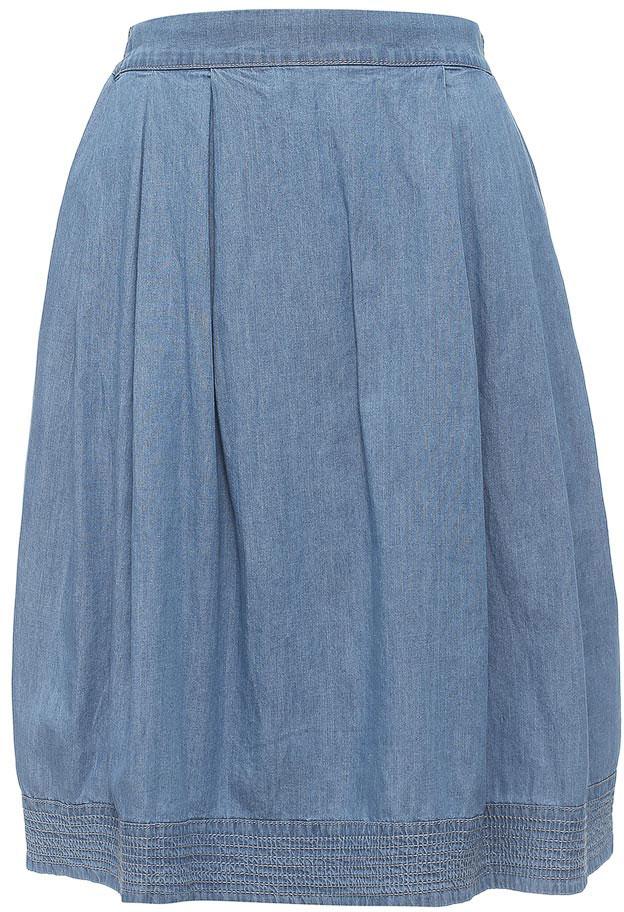 Юбка Sela, цвет: голубой джинс. SKJ-138/801-7213. Размер 44SKJ-138/801-7213Стильная джинсовая юбка Sela выполнена из натурального хлопка и дополнена двумя прорезными карманами. Модель средней длины расклешенного кроя с поясом на мягкой резинке подойдет для прогулок и дружеских встреч и станет отличным дополнением гардероба. Мягкая ткань комфортна и приятна на ощупь.