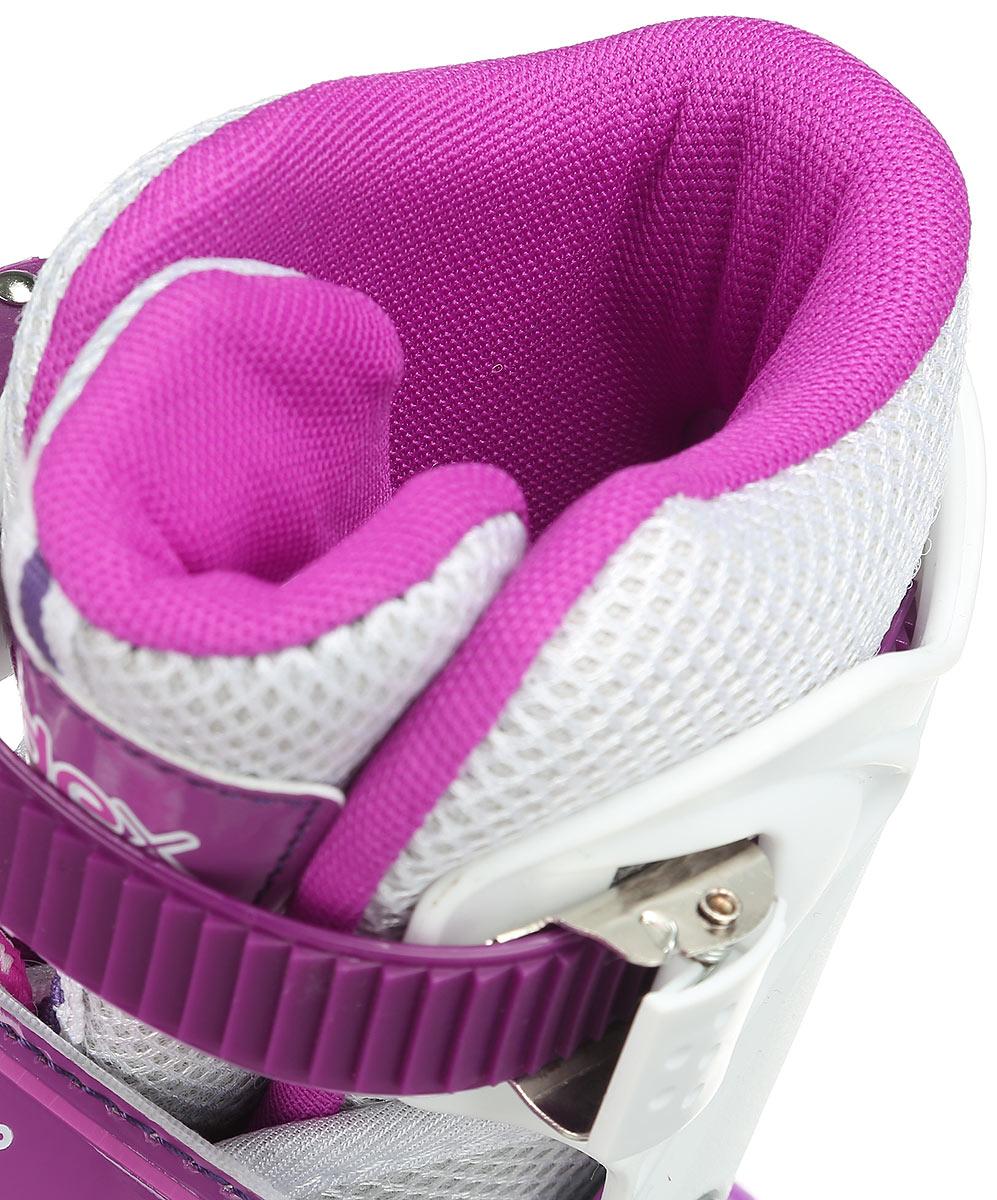 Коньки роликовые Ridex Sonny, раздвижные, цвет:  фиолетовый, белый.  УТ-00008099.  Размер 34/37 Ridex
