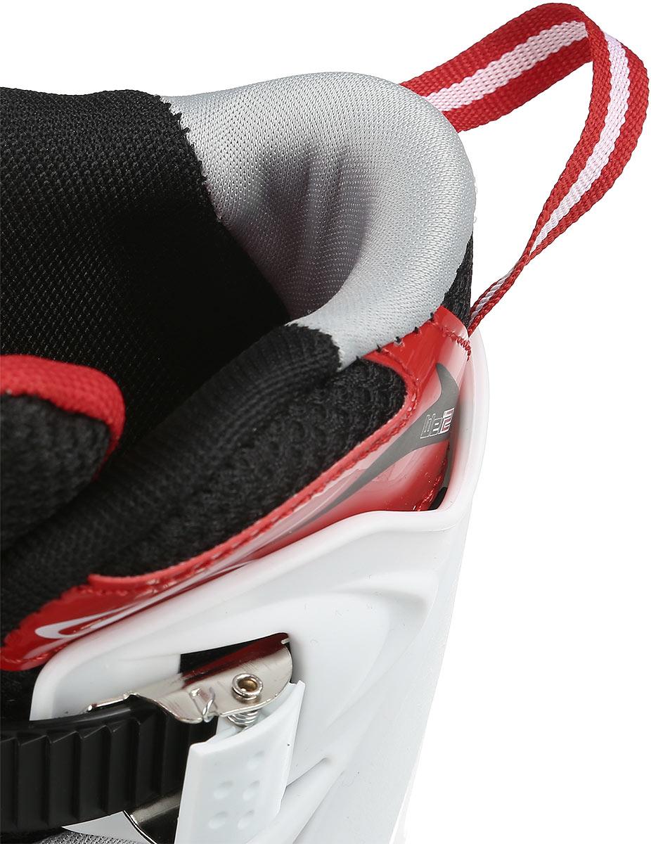 Коньки роликовые Ridex Target, раздвижные, цвет:  черный, белый, красный.  УТ-00008100.  Размер 30/33 Ridex