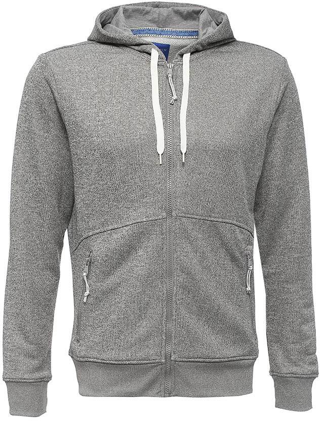 Толстовка мужская Sela, цвет: серый меланж. Stc-2413/003-7111. Размер XS (44)