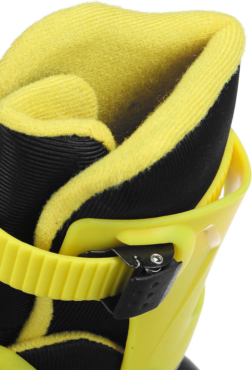 Коньки роликовые Ridex Champion, раздвижные, цвет:  черный, желтый.  УТ-00008209.  Размер 31/34 Ridex