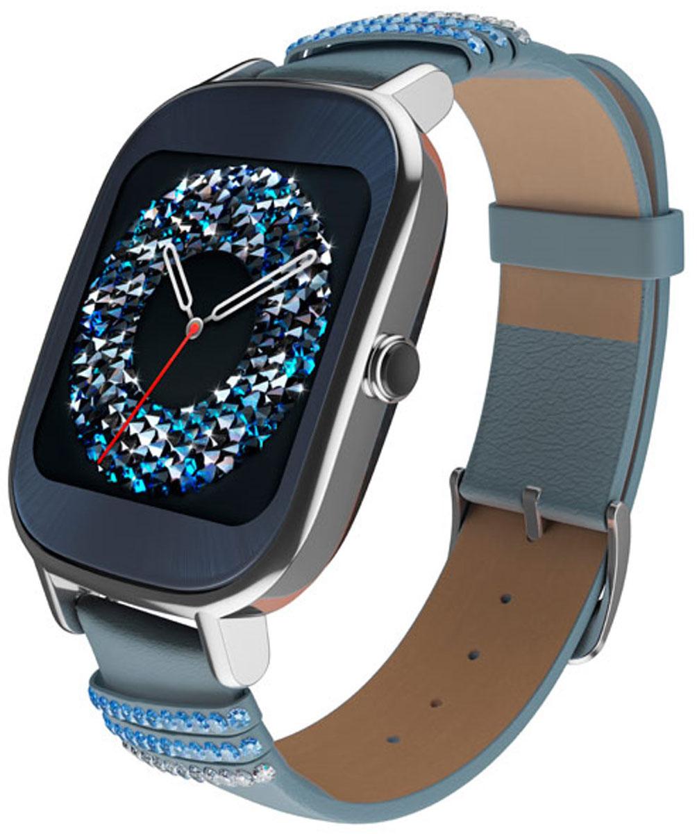 ASUS ZenWatch 2 WI502Q(BQC) Swarovski, Blue смарт-часыWI502Q(BQC)-1LSVK0012ASUS ZenWatch 2 - традиции и инновации в одном стильном устройстве.ZenWatch 2 - это стильные часы с мощной функциональностью. Корпус часов изготавливается из высококачественной нержавеющей стали.Отражая традиционный дизайн часов, на корпусе ZenWatch 2 имеется металлическая кнопка, которая используется в качестве элемента управления.Помимо 50 стандартных циферблатов можно создавать свои собственные варианты оформления экрана часов с помощью приложения FaceDesigner.С помощью часов ZenWatch 2 можно легко обмениваться короткими текстовыми сообщениями, смайликами и рисунками с друзьями и близкими.Просматривайте важную информацию и реагируйте на нее простым прикосновением к экрану или с помощью голосовой команды.Встроенный в часы шагомер обладает высокой точностью, позволяя пользователю следить за своей физической активностью и прогрессом в достижении фитнес-целей. Также имеется функция мониторинга сна.Зарядное устройство с магнитным разъемом ускоряет подзарядку по сравнению с оригинальными часами ZenWatch. Заряд аккумулятора повышается с 0% до 60% всего за 15 минут!Операционная система: Android WearПроцессор: Qualcomm Snapdragon 400 (4 ядра), 1,2 ГГцОперативная память: 512 МБСтекло Corning Gorilla Glass 3