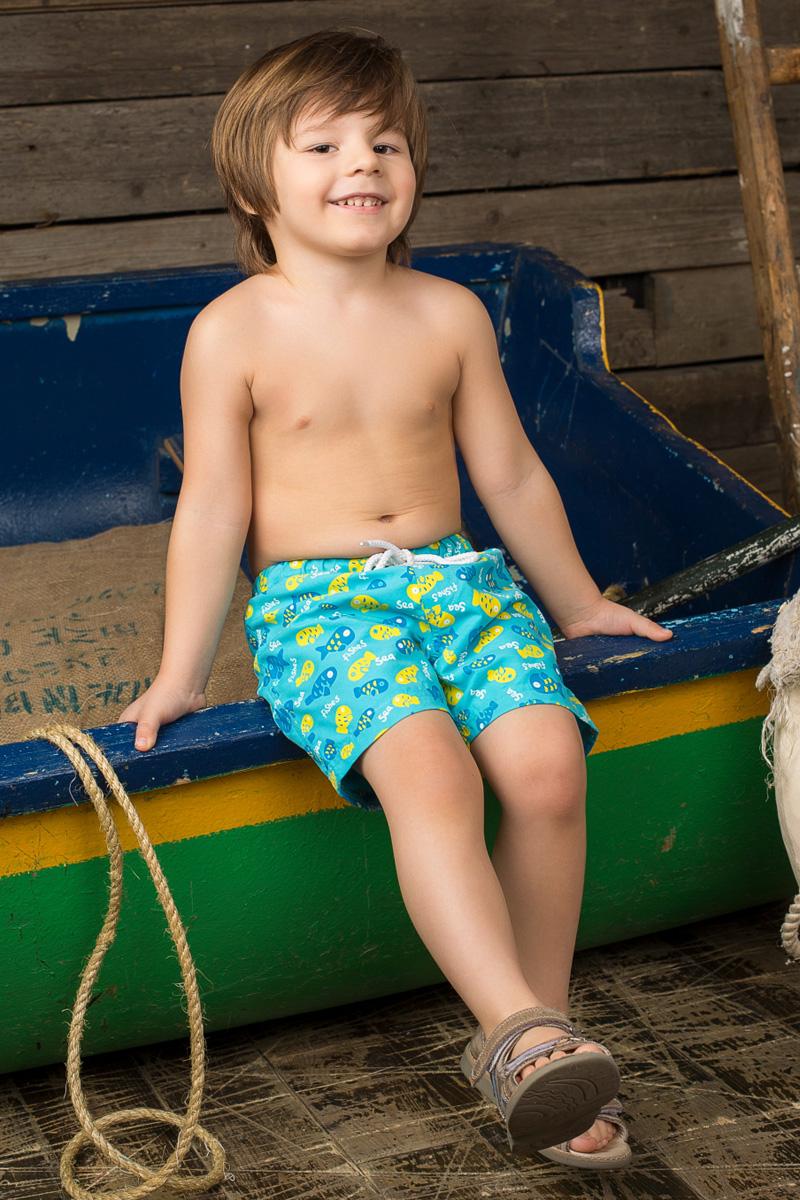 Шорты пляжные для мальчика Sweet Berry Baby, цвет: голубой. 196136. Размер 98