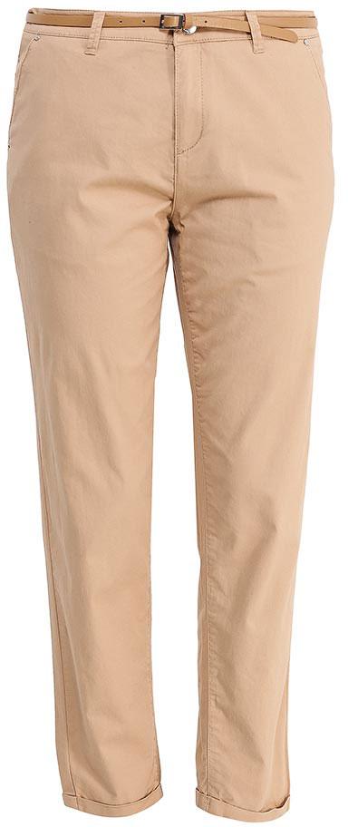 Брюки женские Sela, цвет: песочный. P-115/832-7233. Размер 46P-115/832-7233Стильные укороченные брюки-чиносSela, изготовленные из качественного эластичного материала, станут отличным дополнением вашего гардероба. Брюки стандартной посадки на талии застегиваются на застежку-молнию и пуговицу. На поясе имеются шлевки для ремня. Модель дополнена двумя втачными карманами спереди и двумя прорезными карманами сзади. В комплект с брюками входит узкий ремень из искусственной кожи.