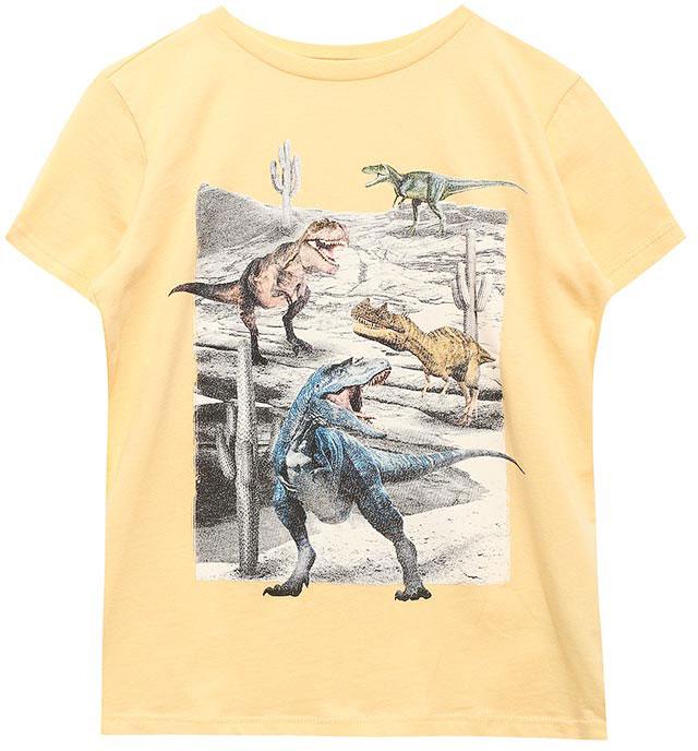 Футболка для мальчика Sela, цвет: светло-желтый. Ts-811/582-7214. Размер 152, 12 летTs-811/582-7214Стильная футболка для мальчика Sela изготовлена из натурального хлопка и оформлена оригинальным принтом. Воротник дополнен мягкой трикотажной резинкой.Яркий цвет модели позволяет создавать модные образы.