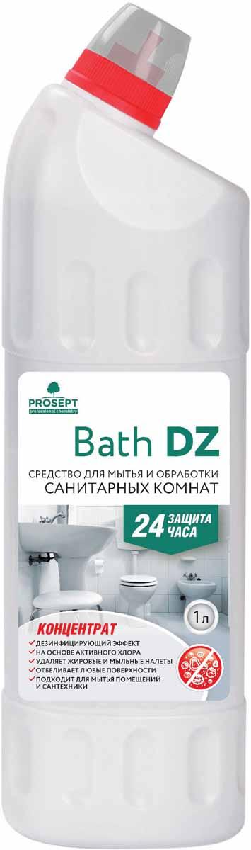 Средство для уборки и дезинфекции санитарных комнат Prosept Bath DZ, концентрат, 1 л108-1Щелочное гелеобразное средство с антимикробным эффектом на основе активного хлора. Для ежедневного и периодического мытья сантехники (унитазов, писсуаров, раковин, ванн), стен, полов. Удаляет грязесолевые, жировые, мыльные налеты, неприятные запахи. Обеззараживает поверхности, уничтожая микроорганизмы (бактерии, грибки). Обладает выраженным отбеливающим эффектом.Товар сертифицирован.