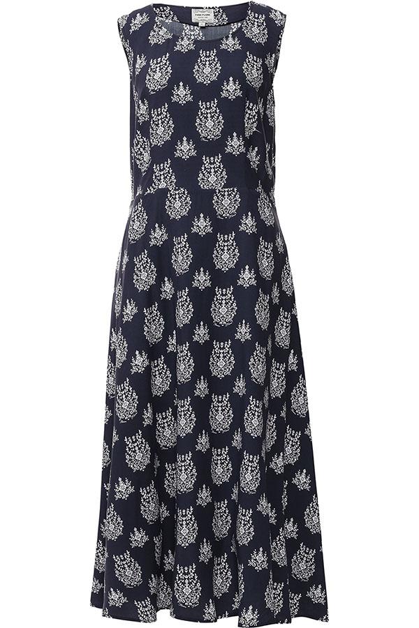 Платье Finn Flare, цвет: темно-синий. S17-12051_101. Размер L (48)