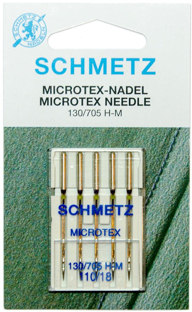 """Игла для бытовых швейных машин """"Schmetz"""", №110, 5 шт"""