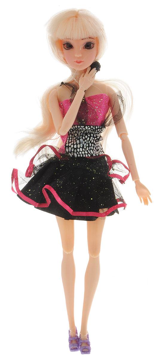 Veld-Co Кукла Emily цвет платья черный розовый veld co игровой набор с мини куклой my lovely princess цвет одежды сиреневый розовый голубой