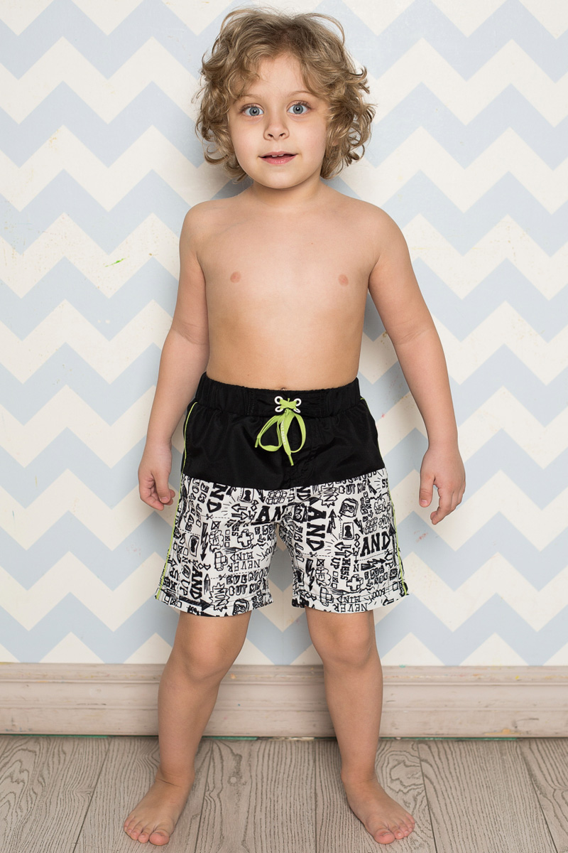 Шорты пляжные для мальчика Sweet Berry, цвет: бело-серый. 713123. Размер 110