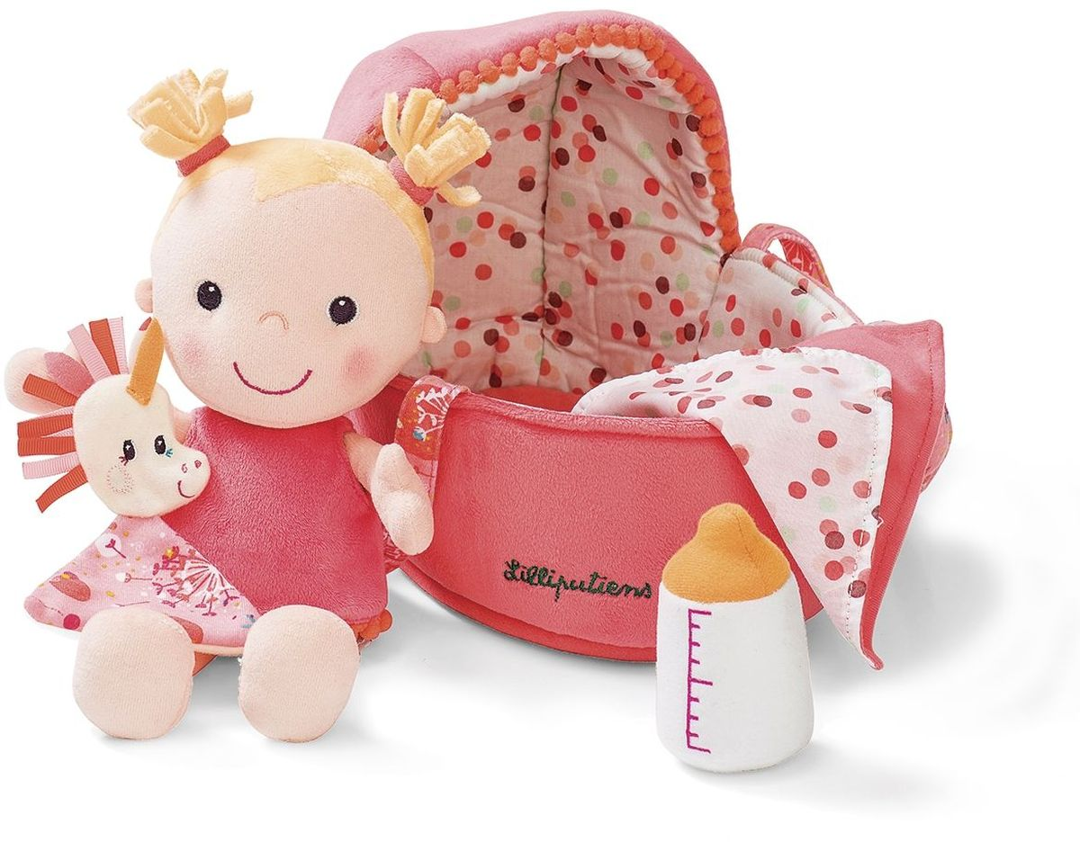 Lilliputiens Кукла мягкая в переноске lilliputiens мягкая книжка игрушка петушок джон