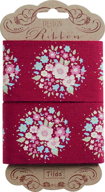 Лента Tilda, цвет: красный, голубой розовый, 45 х 3 см. 210480968210480968Ленточки Tilda идеально подойдут для декора ваших творческих работ.