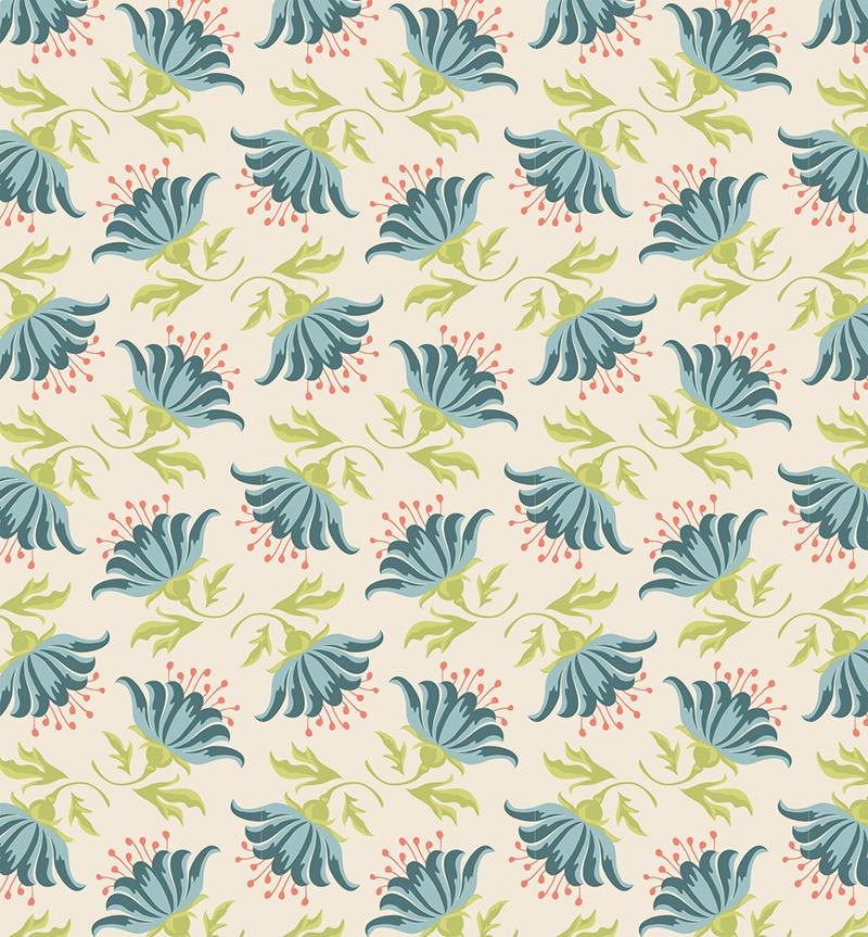 Ткань Tilda  Painted Lily , 1 х 1,1 м. 210481883 -  Подарочная упаковка