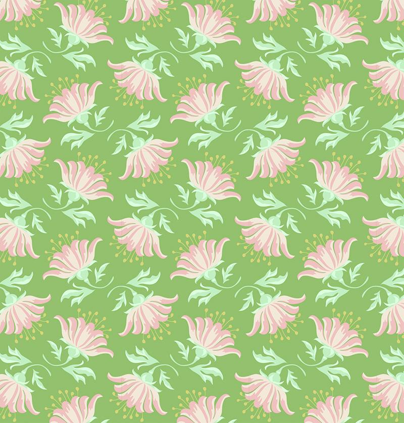Ткань Tilda  Painted Lily , 1 х 1,1 м. 210481884 -  Подарочная упаковка