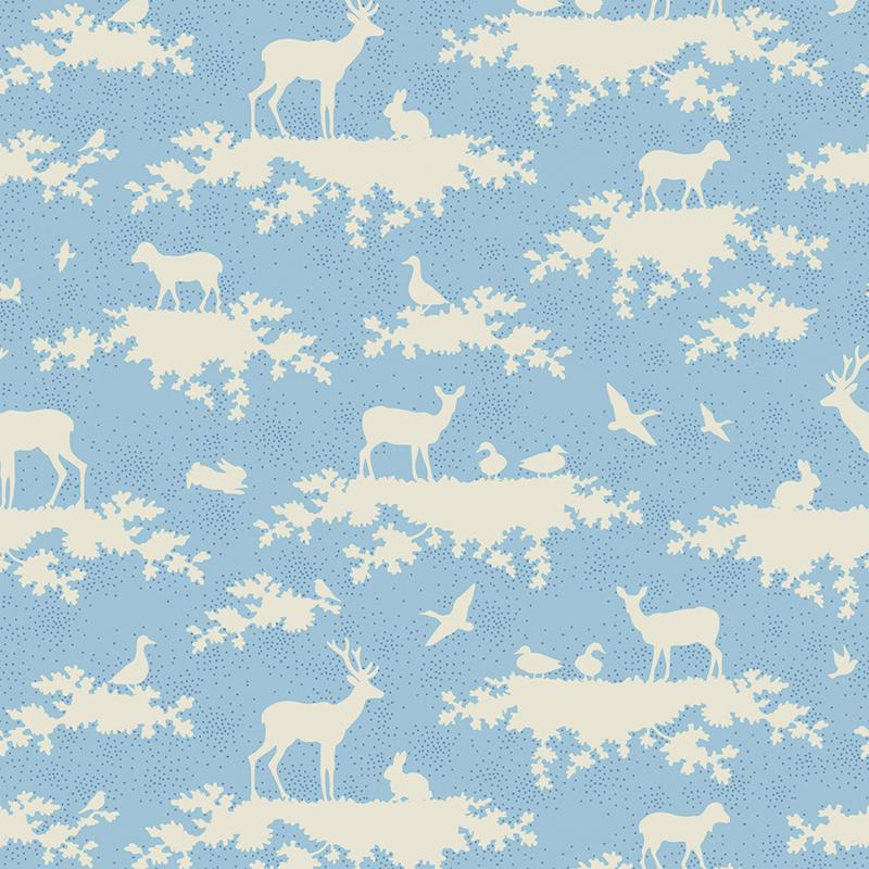 Ткань Tilda Forest, цвет: голубой, белый, 1 х 1,1 м. 210484010210484010Ткань Tilda Forest выполненная из натурального хлопка, используется для творческих работ. Хлопковые ткани не выцветают, не линяют, не деформируются при стирке и в процессе носки готовых изделий, сшитых из этих тканей.Ткань Tilda Forest можно без опасений использовать в производстве одежды для самых маленьких детей, в производстве игрушек. Также ткань подойдет для декора и оформления творческих работ в различных техниках. Ширина: 110 см. Длина: 100 см.