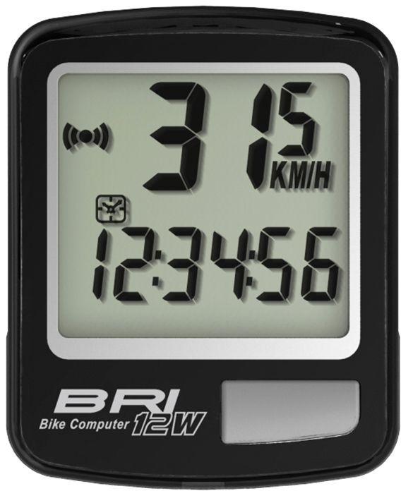 Велокомпьютер беспроводной Echowell BRI-12W, 12 функций, цвет: черный