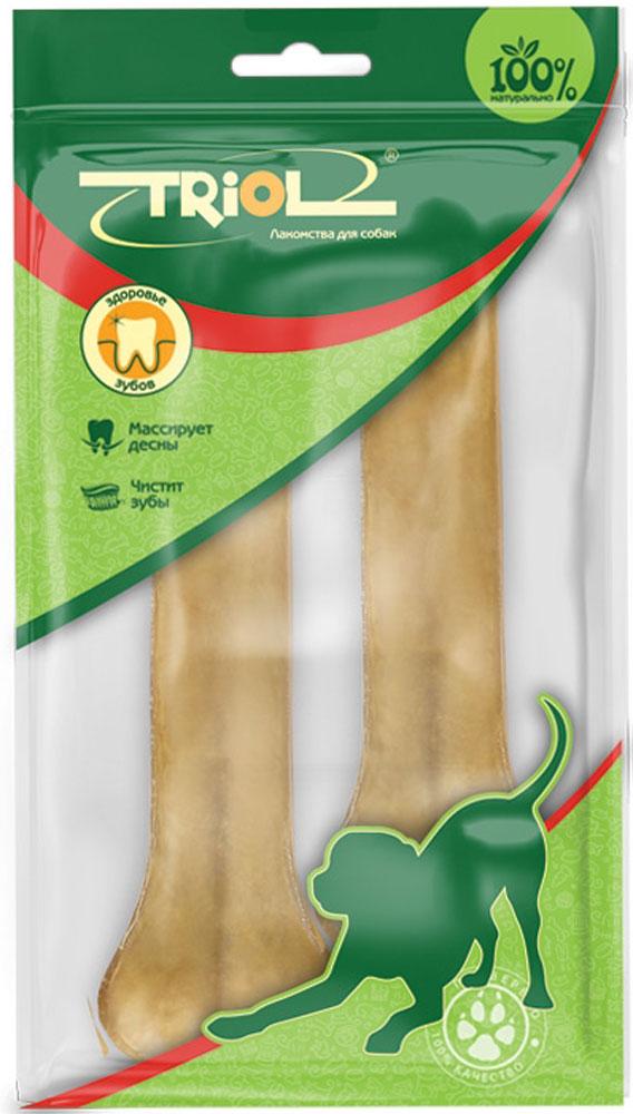 Лакомство для собак из жил TriolКость, длина 16 см, 2 шт кости жевательные для собак vitakraft chews из сыромятной кожи 200г