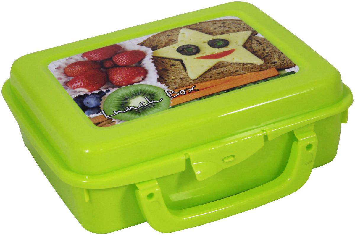 Контейнер пищевой Idea, с ручкой, цвет: салатовый, 20 х 16 х 7 смМ 1234Прямоугольный контейнер Idea изготовлен извысококачественного пластика и предназначен дляхранения любых пищевых продуктов. Крышкагерметично защелкиваетсяспециальным механизмом. Контейнер удобен для ежедневногоиспользования в быту.