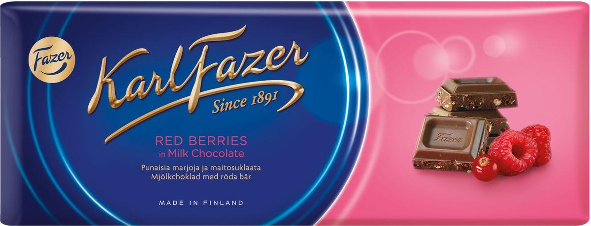 все цены на Karl Fazer молочный шоколад с клюквой и малиной, 200 г онлайн