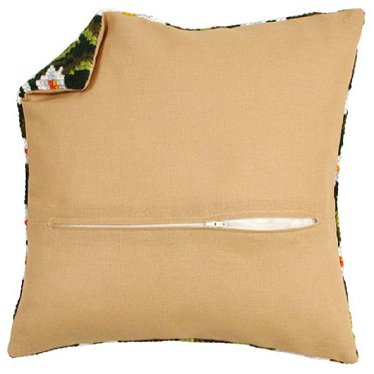Обратная сторона подушки Vervaco, цвет: бежевый, 45 х 45 см8999-11Обратная сторона подушки Vervaco выполнена из 100% хлопка. Изделие идеально подойдет для подушек размером 40 х 40 см. В центре вшит замок-молния, вам останется только пришить ее к декоративной части подушки.