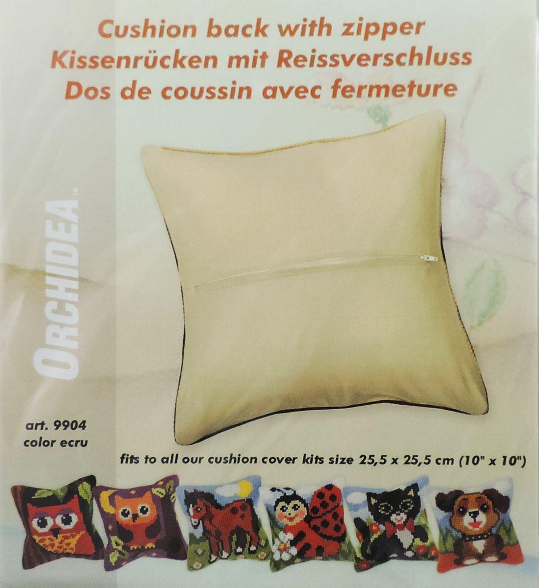 Обратная сторона подушки Orchidea, 28 х 28 см, цвет: бежевый9904Обратная сторона подушки с уже вшитой молнией. Идеальна для подушек размером 25,5х25,5 см. В центре вшит замок-молния, вам останется только пришить ее к декоративной части подушки. Состав: 100% хлопок