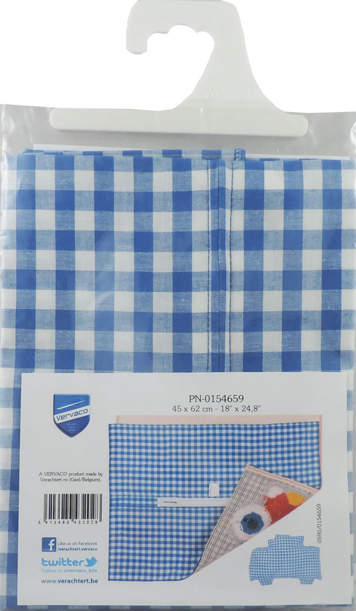 Обратная сторона подушки Vervaco, 45 х 62 см, цвет: синийPN-0154659Обратная сторона подушки с уже вшитой молнией. Идеальна для фигурных подушек. В центре вшит замок-молния, вам останется только пришить ее к декоративной части подушки.Состав: 100% хлопок.Упаковка: п/э пакет с европодвесом