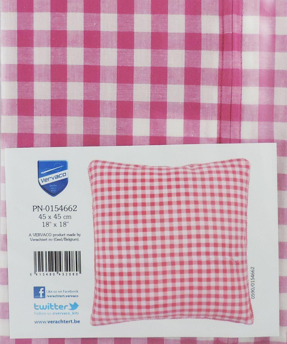 Обратная сторона подушки Vervaco, 45 х 45 см, цвет: розовый vervaco набор для вышивания лицевой стороны наволочки белый шиповник 40 40см